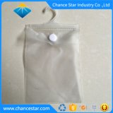Custom Frosted Plastic Hanger Button Closure PVC Bag