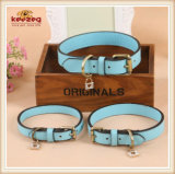 High Quality Handmade Pet Dog Leather Collar, Leashes/Dog Collar (KC0037)