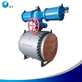 Forged Steel Rotork Beffi Auma Motorized Metal Seat Trunnion Support Ball Valve