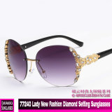 77240 Lady New Fashion Diamond Setting Sunglasses