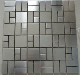 Metal Mosaic Silver Color Chip Size (23*23+23*48+48*48)