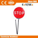 High Luminance Hand Held Flashing LED Stop Slow Traffic Warning Sign