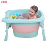 2020 SGS Test Passed Collapsible Portable Plastic Foldable Toddler Infant Newborn Baby Bathtub Kids Bath Tub for Children