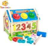 Multi-Function Wooden House Toy