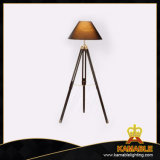 Contemporary Wood Tripod Floor Lamp