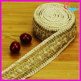 4cm Linen Trimming for Home Decoration and Chirstmas Decoration