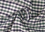 Oliver/Navy Checks Twill 60 Cotton 40 Polyester Fabric Shirting