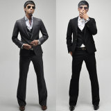 One-Button 3PCS 1button Designed Men′s Slim Fit Business Suits