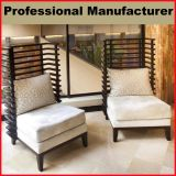 Wooden Lobby Furniture High Back Lounge Sofa Chair for Hotel