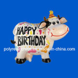 Resin Shiny Cow for Gifts, Polyresin Happy Birthday Cow