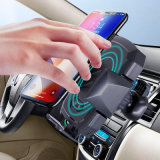 Latest Intelligent Smart Infrared Sensor Car Wirelss Auto Charger for iPhone & Samsung Wholesalers Factory Direct with Gurantee Mobile Holder