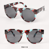 New Women Fashion Round Sunglasses with Paper Transfer