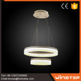 Top Grade Cafe 2-Wide-Ring Aluminum LED Pendant Light