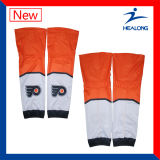 Healong China Manufacturer Sportswear Gear Sublimation Match Ice Hockey Socks