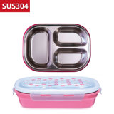 1100ml Stainless Steel Food Container Bento Lunch Box Compartment 22120