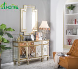 Modern Elegant/Unique Ornament Decor a Set of Wall Mirrors and Mirrored Furniture