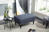 Home Furniture Soft Tufted Fabric Ottoman