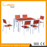 New Design Garden Patio 6 Seaters Dining Table and Chair Set Outdoor Leisure Polywood Hotel Restaurant Modern Furniture