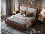 Modern Nappa Leather Bed 1.8 M Double Bed for Bedroom Furniture