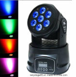7*15W 6-in-1 RGBWA+UV Mini LED Wash Moving Head Light