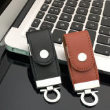 Promotional Gift Bulk 1GB Leather USB 2.0 Flash Drives Stick Memory