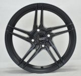 Thin sopke casting alloy wheel with black machine face