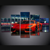 HD Printed Red Luxury Sports Car Painting Canvas Print Room Decor Print Poster Picture Canvas Mc-117