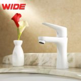 White Painted Hot Cold Water Mixer Tap, Faucets Bathroom with Low Price