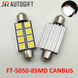 Car-Styling 12V Festoon 5050 8 SMD Canbus 39/41mm Auto License Plate Light