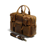 Italy New Design Leather Bag Manufacturer Crazy Horse Leather Shoulder Handbag Briefcase (RS-68058-P)