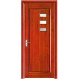 Simple Style Red Oak Interior Glass Wooden Door with Veneer Paint (YH-6026)