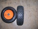 High Quality High Load Capacity Metal Rim Pneumatic Rubber Wheel for Wheelbarrow (6.50-8)