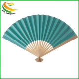 Wholesale Customized Spanish Wooden Hand Fan for Wedding Gift Scenery Fabric Craft