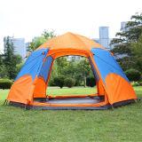 Automatic 3-4 People Hexagonal Two Door Double Layers Waterproof Camping Tent