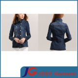 High Leck Long Women Jean Coat Garment (JC4078)