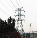 35kv-1000kv Lattice Power Transmission Iron Steel Tower with Double Circuit