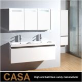 Floating Modern Double Vanity Bath Mirror Cabinets with Lights