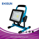 12V/24V/36V Rechargeable Battery Emergency Work LED Outdoor Flood Light with USB Charger
