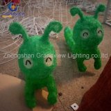 Zoo Animal Glass Christmas Ornament LED Lights for Park Decoration