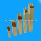 "1/2""X1""X1mm Hard Drawn Rectangular Brass Pipe"