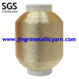 Pure Gold Metallic Yarn with Cotton or Polyester or Viscose Rayon
