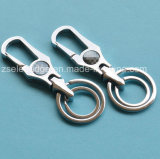 Sliver Finish Alloy Keychain with Double Rings (Ele-K040)