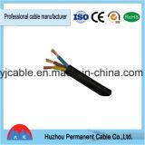 Wholesale Black Color Heavy Duty 2 Cores H07rn-F 2X1.0mm2 VDE Rubber Power Cable