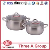 Belly Shape Stainless Steel Cookware with Silicone Handle