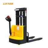 1000kg 1500kg 2000kg Walking Electric Stacker Lift Pallet Truck Electric Forklift Price