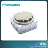 China Supplier Brass Floor Outlet Cover with IP66 Waterproof Socket