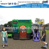 Plastic Playground Equipment Small Playhouse with Slide (HF-20303)