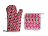 Factory Eco Friendly Pot Holders and Oven Mitts 2 Kitchen Sets-Oven