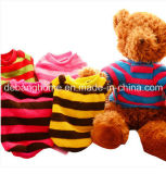 Wholesale Hot Sale Stripe Short Plush Pet Dog Clothes