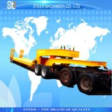 4 Axles 100 Ton Payload Rowbed Trailer for Road Transporting